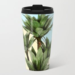 Agave Plant on Lemon and Teal Wall Travel Mug