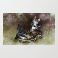 kittens Area & Throw Rugs featuring Kittens by Julie Hoddinott