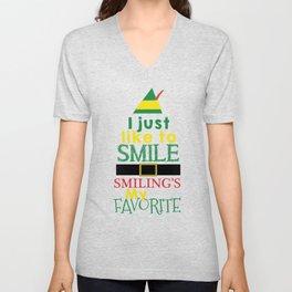 I just like to Smile - Buddy the Elf Unisex V-Neck