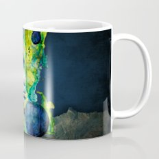 Evelin Green (Set) by carographic watercolor portrait Mug