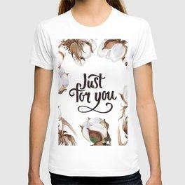 Cotton Flower Frame 02 T-shirt