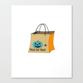 Teal Pumpkin Food Allergy Trick or Treat Canvas Print