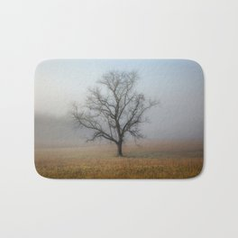 In a Fog - Mystical Morning in the Great Smoky Mountains Bath Mat