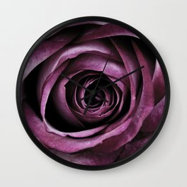 Purple Rose Decorative Flower Wall Clock