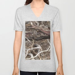 TEXTURES - Manzanita in Drought Conditions #3 Unisex V-Neck