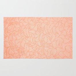 Pink Peach Retro Geometric Waltz Rug