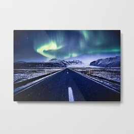 Road to Aurora Metal Print