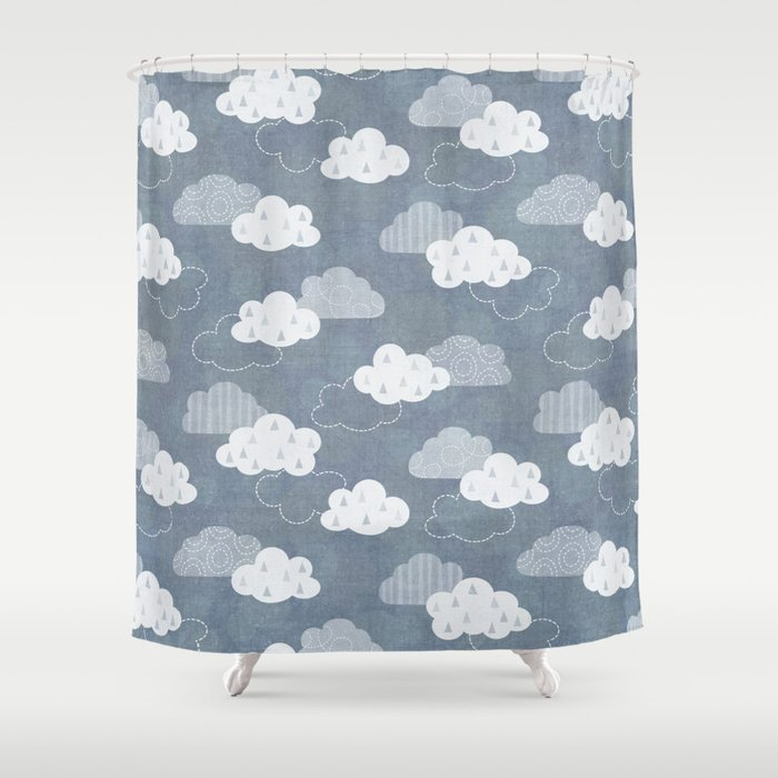 RAIN CLOUDS Shower Curtain By Daisybeatrice