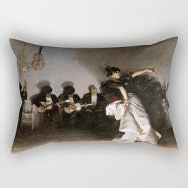 John Singer Sargent's El Jaleo Rectangular Pillow