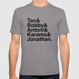Queer Eye Helvetica Names Tan Bobby Antoni Karamo Jonathan T-shirt