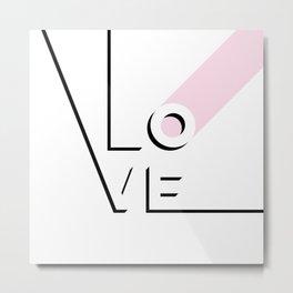 True Love Never Ends - black, white & pink #love Metal Print