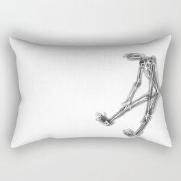 exhausted figure Rectangular Pillow