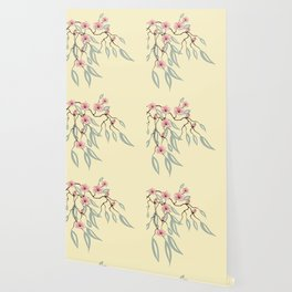 Floral. Dreams of spring. Pink sakura. Wallpaper