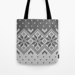 Winter knitted pattern 8 Tote Bag