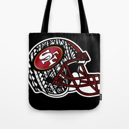 Tribal Style 49ers Tote Bag