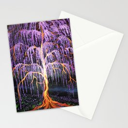 Electric Wisteria Willow Tree Stationery Cards