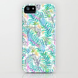 Leaves Water Colors iPhone Case