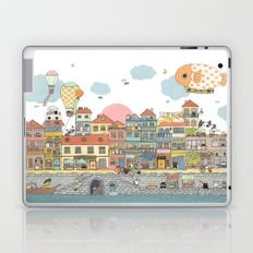 79 Cats in Harbor City Laptop & iPad Skin