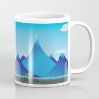 cycle Mugs featuring Cycle by kylecschaeffer
