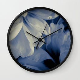 White peonies background Wall Clock