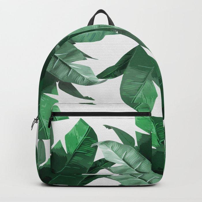 Tropical Palm Print Backpack