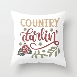 Country Darling Cowboy Life Throw Pillow