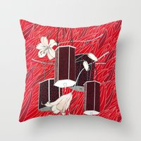 lantern Throw Pillows featuring Lantern by Anya Pany