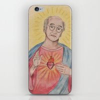 larry david iPhone & iPod Skins featuring Larry David Our Saviour by Laura Francis Design