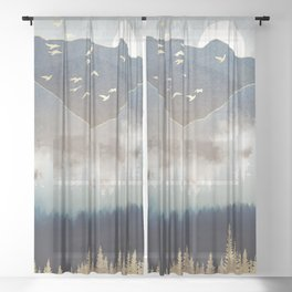 Blue Mountain Mist Sheer Curtain