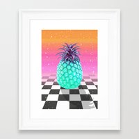 pineapple Framed Art Prints featuring Pineapple by Danny Ivan