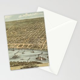 Map of Memphis 1870 Stationery Cards