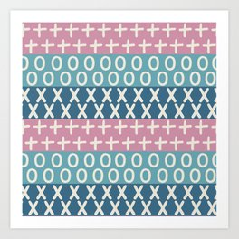 Abstract teal graphic pattern Art Print