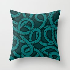 Measuring Tape Pattern Throw Pillow
