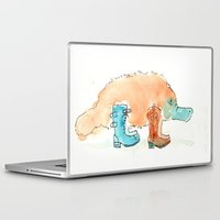 platypus Laptop & iPad Skins featuring Platypus In Boots by Taylor Winder
