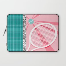 Boo Ya - tennis full court racquet palm springs resort sports vacation athlete pop art 1980s neon  Laptop Sleeve