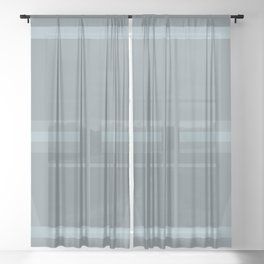 Subtle Celtic Calming Grey and Silver design #33G Sheer Curtain