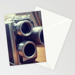 Vintage movie camera Stationery Cards