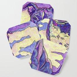 Rainbow Blue Nose Pitbull Coaster