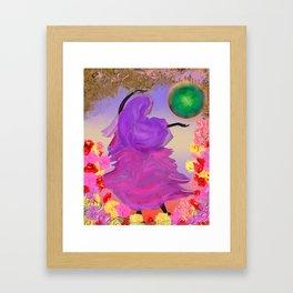 lady jaipur Framed Art Print