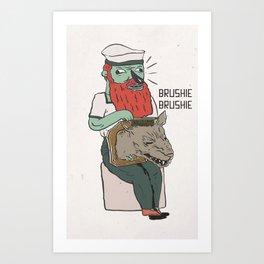 brushie brushie Art Print