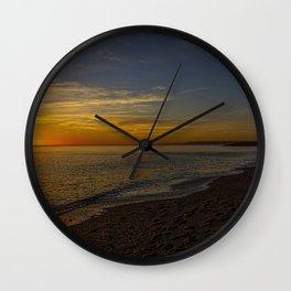 Sunset at West Bay 3 Wall Clock