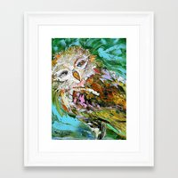 hedwig Framed Art Prints featuring Hedwig by Karen Tarlton