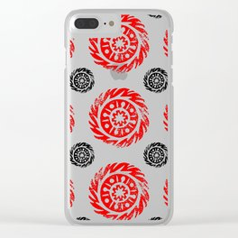 Sun mandala pattern Clear iPhone Case