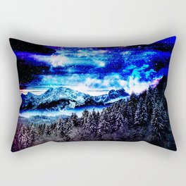Cobalt Auroras Rectangular Pillow