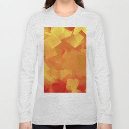 Cubism in orange Long Sleeve T-shirt