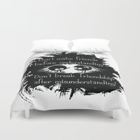 friendship Duvet Covers featuring Friendship by Cindys