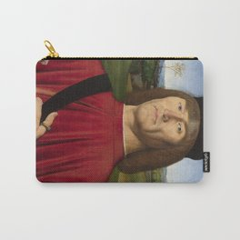 Man with a Pink Carnation by Andrea Solari Carry-All Pouch