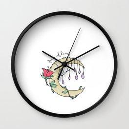 Hand Drawn Illustrations Fantasy Moon Dream of Beauty Gift Wall Clock