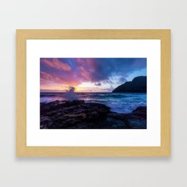 Makapu'u Beach, Hawaii Framed Art Print