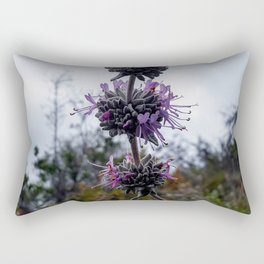 Ojai: Purple Wild Flower Rectangular Pillow